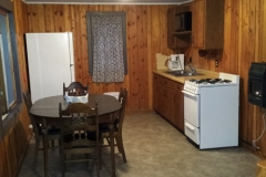 Cabin 1 has a fully equipped kitchen