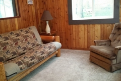Cabin 1 offers a comfortable living room