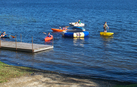 Water toy rentals for Gull Lake