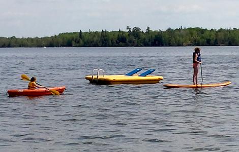 Paddleboard rentals on Gull Lake